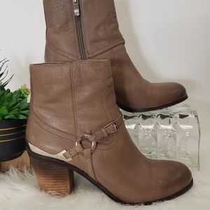 Vince Camuto Shoes Ankle Booties Gregger Brow 7.5